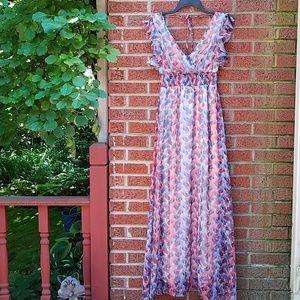 Aggie Summer Beach Maxi Dress